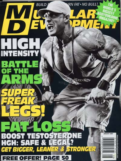 MUSCULAR DEVELOPMENT muscle magazine/ED CORNEY 12-70